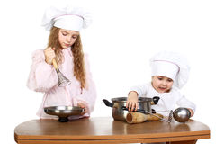 Little cooks Royalty Free Stock Photos