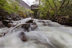 Little Cotton Wood River. This nature photography of the Little Cotton Wood River in Utah contains the river and the natural surroundings associated with the Royalty Free Stock Photography