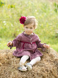Little country girl Stock Photos