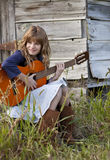 Little Country Musician Stock Images