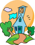 Little county christian church royalty free illustration