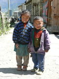 Little couple in Manang - Nepal Stock Photos