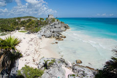 Little cove by Mayan ruins Royalty Free Stock Photos