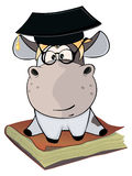 A little cow. Cartoon Stock Photo