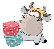 A little cow. Cartoon Stock Image