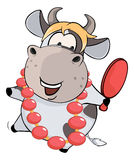 A little cow . Cartoon Royalty Free Stock Photography