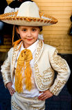 Little cow girl with a pose Royalty Free Stock Photo