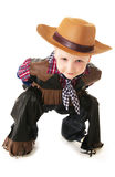 Little cowboy. Little boy dressed up in western attire stock image