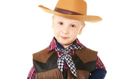 Little cowboy. Little boy dressed up in western attire Stock Photos