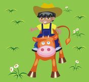 Little cowboy Stock Images