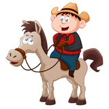 Little Cowboy Stock Photo