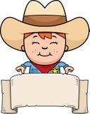 Little Cowboy Banner Stock Photos