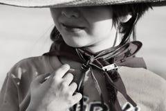Little Cowboy. Portrait of a little boy as a cowboy Stock Images