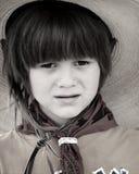 Little Cowboy. Portrait of a little boy as a cowboy Royalty Free Stock Image