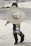Little Cowboy. Portrait of a little boy as a cowboy Royalty Free Stock Photo