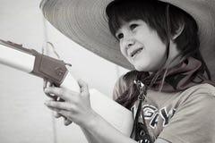 Little Cowboy. Portrait of a little boy as a cowboy Stock Photos