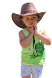 Little cowboy. On a white background Stock Photography