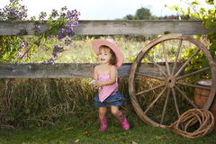 Little Cowgirl Royalty Free Stock Images