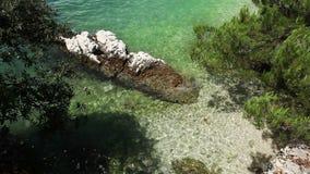 Little cozy Bay on Croatia Adriatic shore Stock Image
