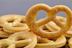 Little crackers as pretzels Royalty Free Stock Image