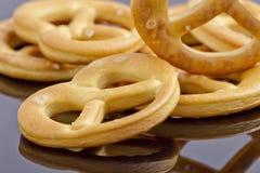 little crackers as pretzels Stock Image
