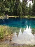 Little Crater Lake. Blue water if Little Crater Royalty Free Stock Image