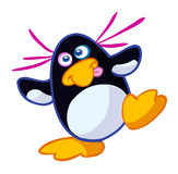 Little crazy funny penguin Royalty Free Stock Images