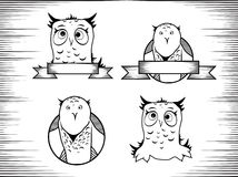 Owl Design Set Royalty Free Stock Photos