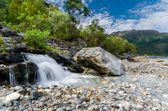 Little creek near Tromsø Norway Royalty Free Stock Photos
