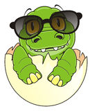 Little crocodile in sunglasses Stock Images
