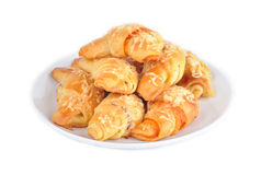 Little croissants with ham and cheese Royalty Free Stock Image