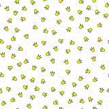 Little crowns eamless pattern Stock Photography