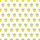 Little crowns seamless pattern Stock Photography