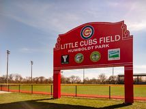 Little Cubs Field in Humboldt Park. royalty free stock photo