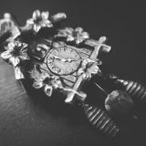 The little cuckoo clock stock photography