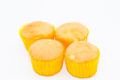 Little cup cake in white background Royalty Free Stock Photo