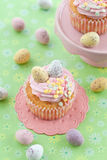 Little cupcake on green Stock Photos