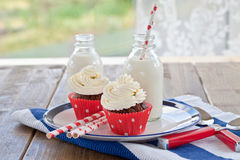 Little cupcakes with frosting Royalty Free Stock Image