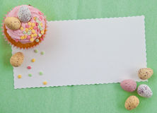 Little cupcakes on green Royalty Free Stock Photography