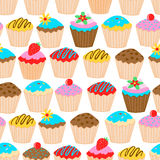 Little cupcakes seamless patter. Stock Photo