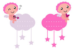 Little Cupid blank tags collection Stock Photography