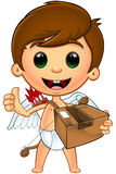 Little Cupid Character vector illustration