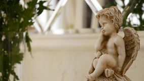 A little cupid in the garden.  stock footage