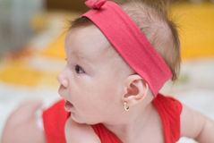 Little curious baby Stock Photography
