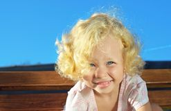 Little curly girl Royalty Free Stock Images