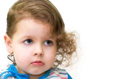 Little curly-haired girl Royalty Free Stock Images