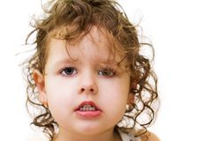 Little curly-haired girl Royalty Free Stock Photography