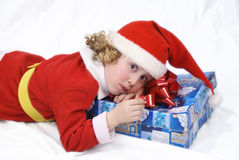 Little Curly Santa Stock Images