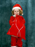 Little Curly Santa Stock Image