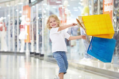 A little customer of the store Royalty Free Stock Photography